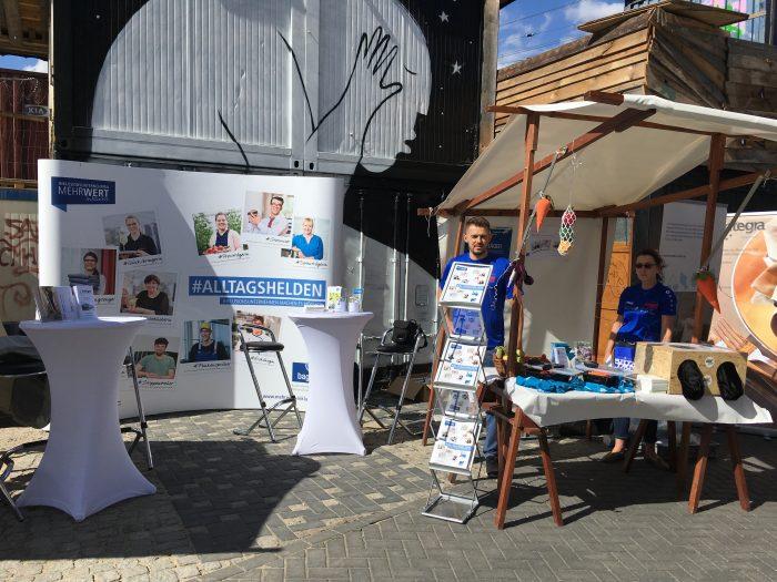 Kampagnenstand auf dem Berliner Straßenfest Spreespektakel