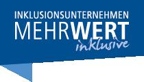 Logo der Kampagne Inklusionsunternehmen. MehrWert inklusive