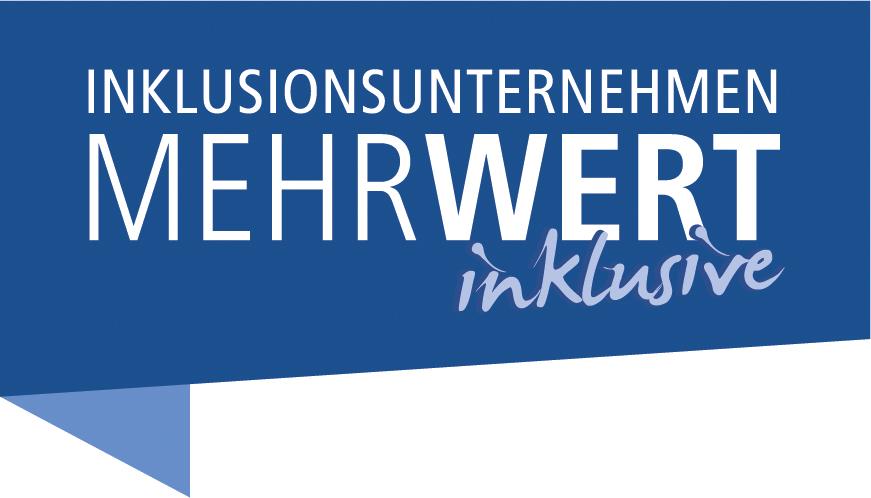 "Logo ""Inklusionsunternehmen. MehrWert inklusive"""