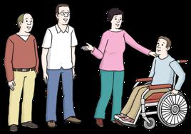 Menschen mit und ohne Behinderung